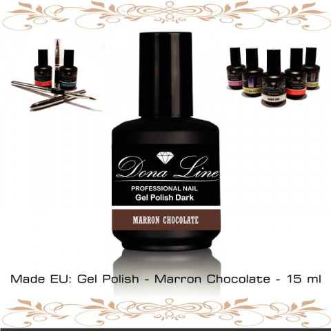 Esmalte Semi - Polish Dark Marron Chocolate