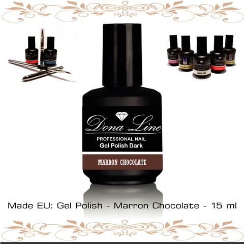 Esmalte Semi - Polish Dark Marron Chocolate