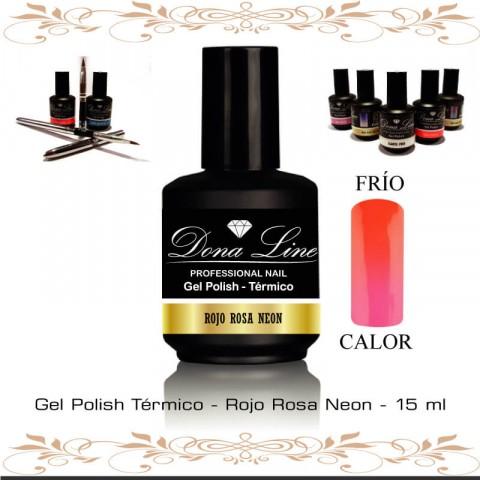 Esmalte Uñas Termico - Rojo Rosa Neon