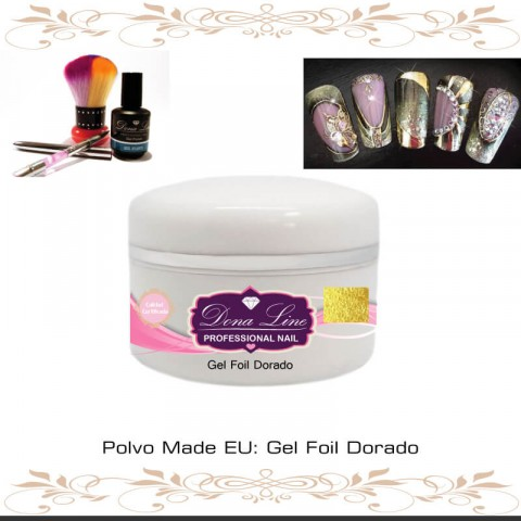 Gel Foil Dorado (Decoracion) - 5 ml
