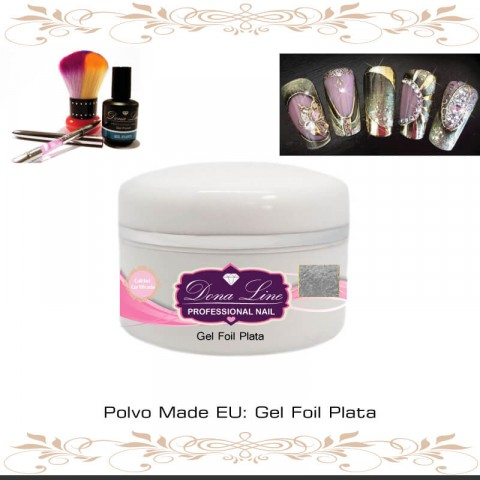 Gel Foil Plata (Decoracion) - 5 ml