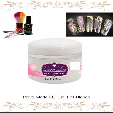 Gel Foil Blanco (Decoracion) - 5 ml