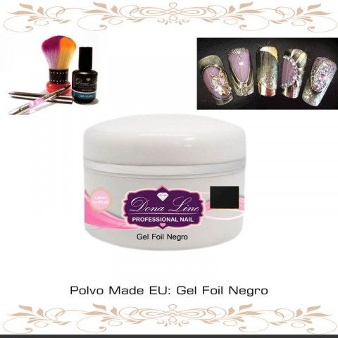 Gel Foil Negro (Decoracion) - 5 ml