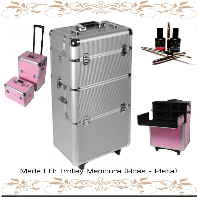 Trolley Manicura Tenerife - Rosa y Plata