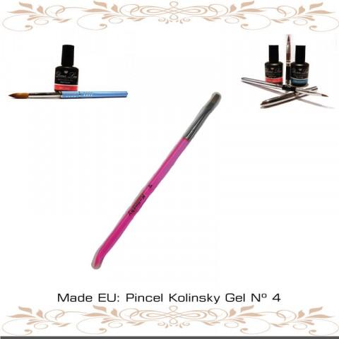 Pincel Kolinsky Gel Nº 4