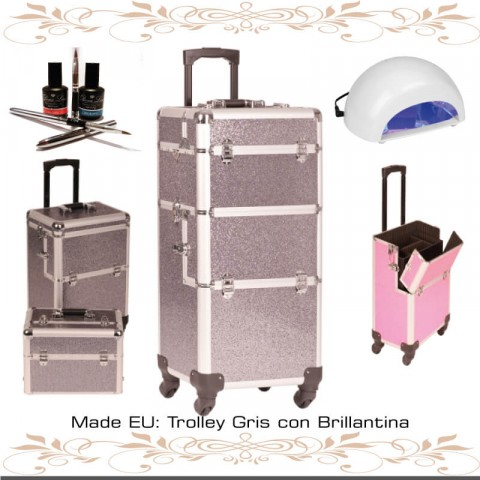 Trolley Manicura Gris con Brillantina tenerife