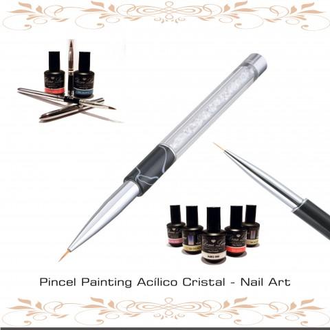 Pincel Painting Acilico Cristal - Nail Art