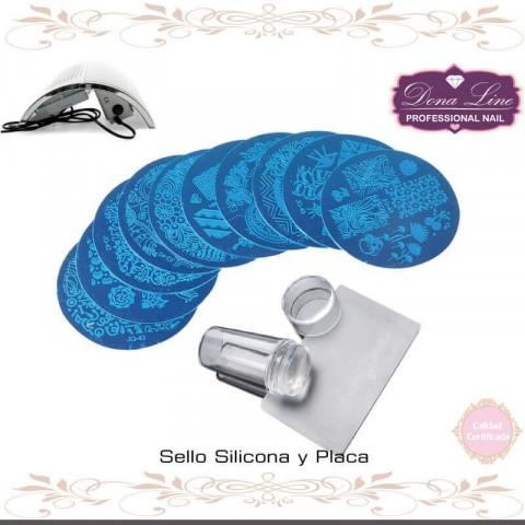 Sello Silicona y Placa (Konad Stamping)