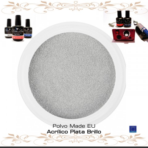 POLVO ACRILICO PLATA BRILLO - 3 Gr