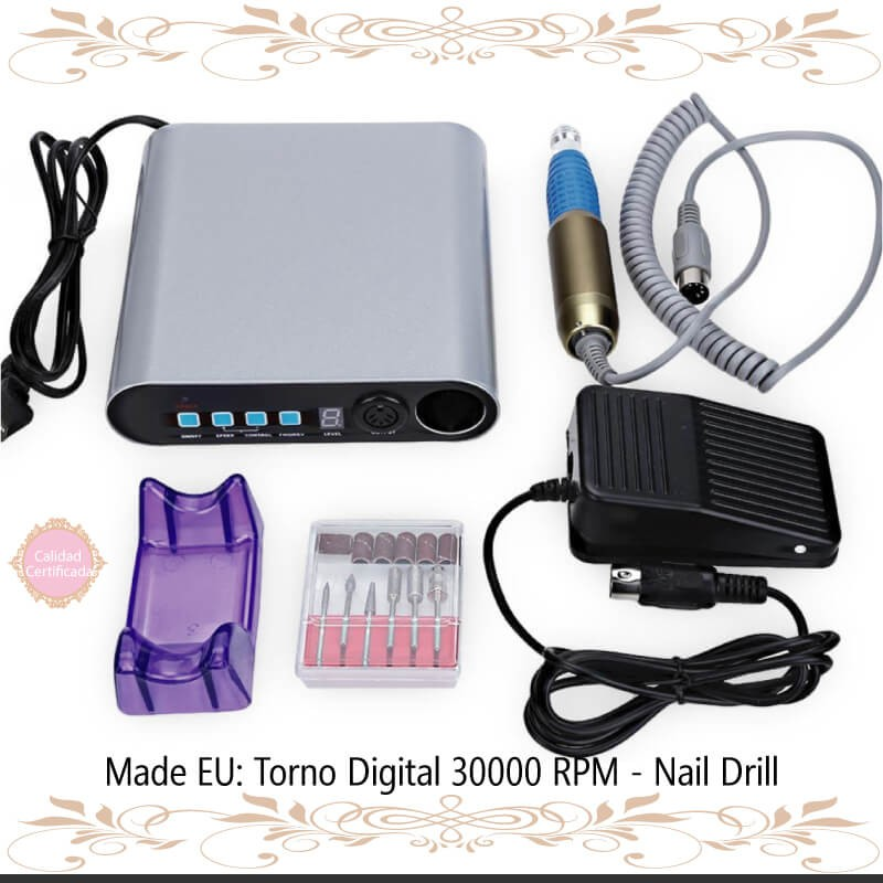 Torno Digital 30000 RPM - TENERIFE - Nail Drill (30.000 RPM)
