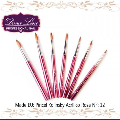 Pincel Kolinsky Acrilico ROSA Nº:10