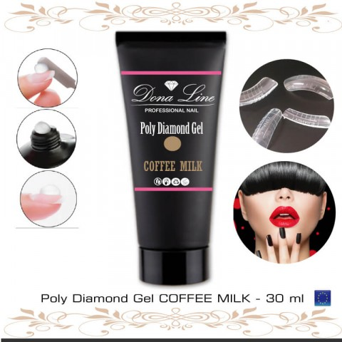 Poly Diamond Gel COFFEE MILK - 60 ml