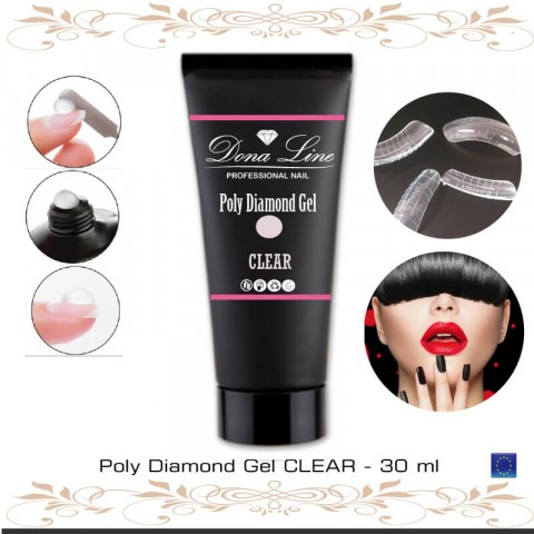 Poly Diamond Gel CLEAR - 30 ml