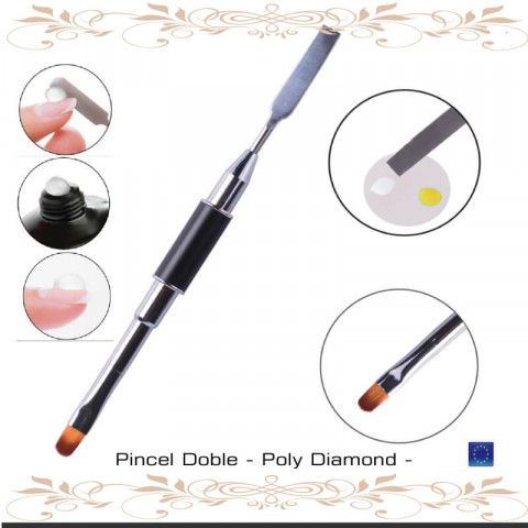 Pincel Doble Poly Diamond