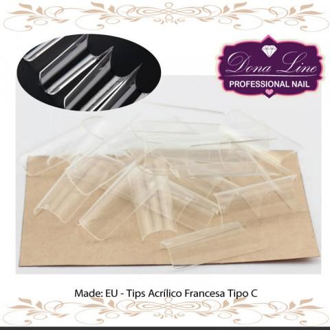 Tips Acrílico Francesa (500 Unds)