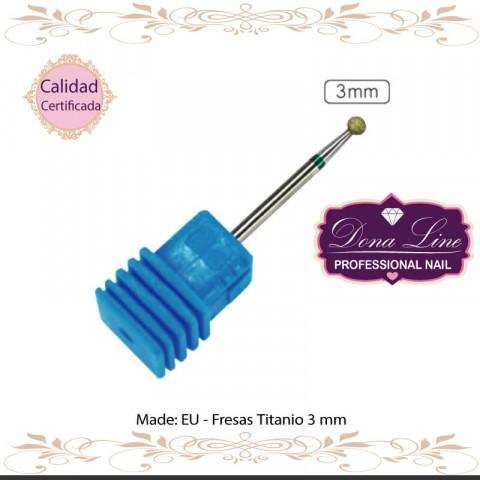 Fresas Titanio 3 mm